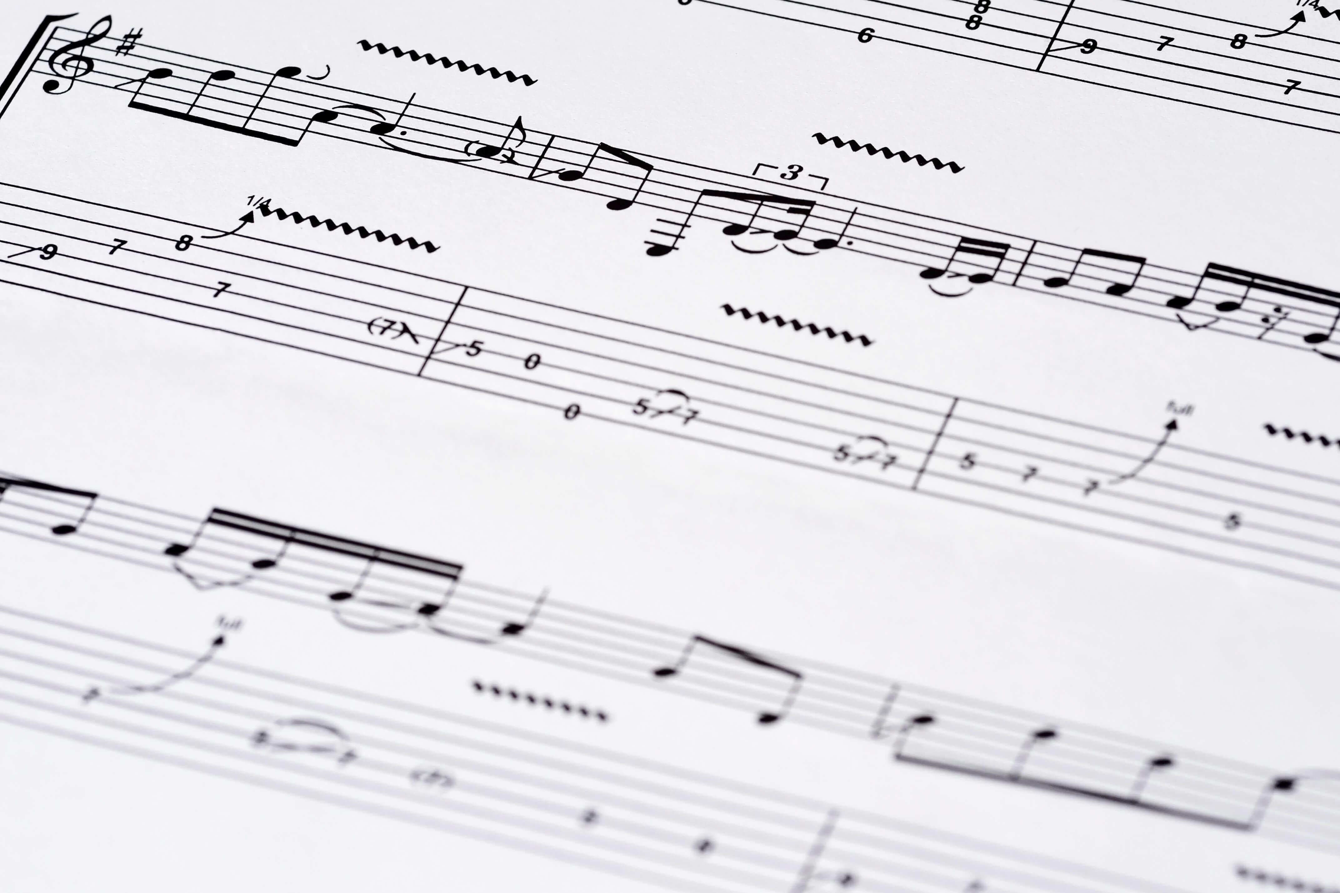 Tablature ukulele vierge